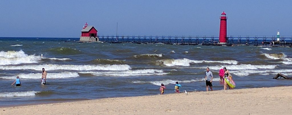 Foghouse and lighthouse at Grand Haven