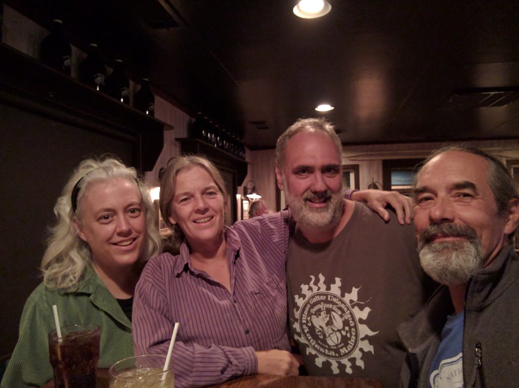 Hope, Sue, Carlos, Doug at the Ruddy Duck